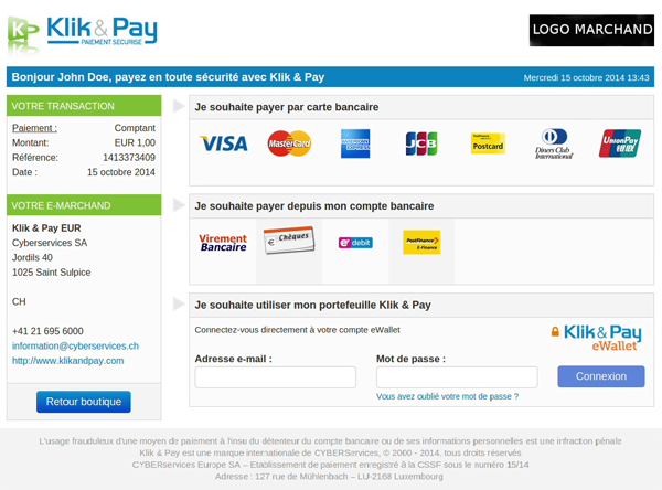 klikandpay screenshot